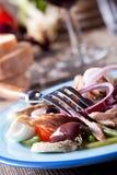 Französisches Salat nicoise Lizenzfreies Stockfoto
