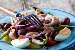 Französisches Salat nicoise Stockbild