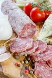 Französisches saucisson Lizenzfreie Stockfotos