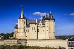 Französisches Schloss bei Saumur, Maine-et-Loire, Frankreich lizenzfreie stockfotografie