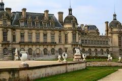 Französisches Schloss im Winter Stockbild