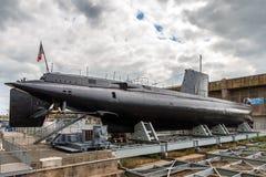 Französisches Unterseeboot in Lorient Lizenzfreies Stockfoto
