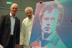 Franz Beckenbauer, Andre Heller Lizenzfreie Stockfotos