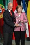 Franz Beckenbauer, Angela Merkel Stock Images