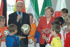 Franz Beckenbauer, Angela Merkel Stock Image