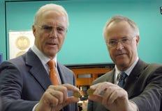 Franz Beckenbauer, Hans Eichel Royalty-vrije Stock Foto's
