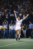 Franz Beckenbauer. Professional Soccer legend Franz Beckenbauer of the New York Cosmos. (Image taken from color slide royalty free stock photo