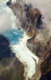 franz glaciär josef New Zealand royaltyfri foto