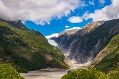 franz glaciär josef New Zealand arkivbilder