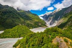 franz glaciär josef New Zealand arkivfoton