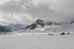 franz glaciär joseph Arkivfoton