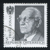 Franz Jonas and Austrian Eagle Stock Image