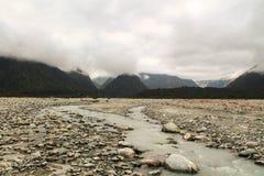 Franz Josef de niebla River Valley Fotos de archivo libres de regalías