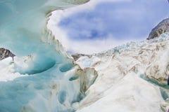 Franz josef glaciär royaltyfria bilder
