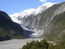 Franz josef glaciär Arkivfoton