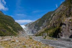 Franz josef glaciär arkivbild