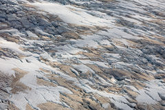 Franz Josef glaciär från övre sikt Arkivbilder