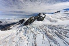 Franz Josef glaciär från övre sikt royaltyfri foto