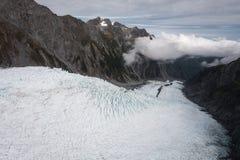 Franz Josef glaciär från övre sikt Royaltyfri Fotografi