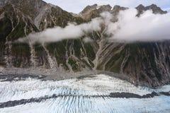 Franz Josef glaciär från övre sikt Fotografering för Bildbyråer