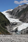 Franz Josef Glacier. In Westland National Park on the West Coast of New Zealand's South Island. Southern Alps mountains Stock Photography