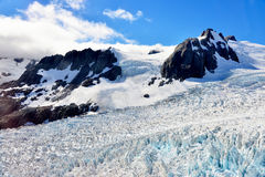 Franz Josef Glacier. View from a helicopter, New Zealand Royalty Free Stock Image