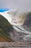 Franz Josef Glacier i den Westland nationalparken royaltyfri bild
