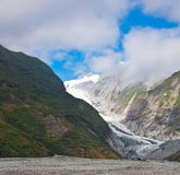 Franz Josef Glacier i den Westland nationalparken royaltyfria foton