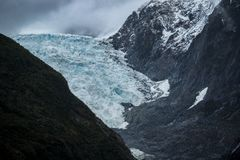 Franz josef glacier national park in southland new zealand royalty free stock photography