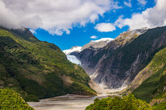 Franz Josef Glacier, New Zealand. Franz Josef Glacier, Located in Westland Tai Poutini National Park on the West Coast of New Zealand stock images