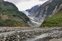 Franz Josef Glacier in New Zealand Stock Photo