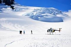 Franz Josef Glacier snölandning arkivfoton