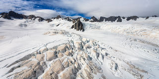 Franz Josef Glacier from top view Royalty Free Stock Photography
