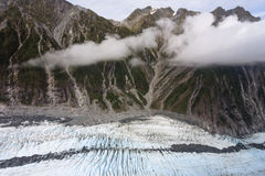 Franz Josef Glacier from top view Stock Image