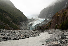 Franz Josef glacier valley Stock Photos