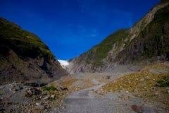 Franz Josef Glacier and valley floor, Westland, South Island, New Zealand Royalty Free Stock Photos