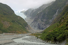 Franz Josef glacier valley Stock Photography