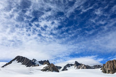 Franz Josef Glacier van hoogste mening Royalty-vrije Stock Foto's