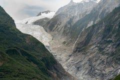 Franz Josef-gletsjer, het Zuideneiland van Nieuw Zeeland stock foto