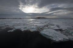 Franz-Josef Land landscape. Travel on icebreaker Arctic 2018 royalty free stock image