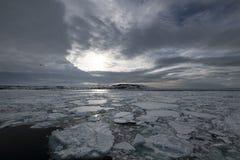 Franz-Josef Land landscape. Travel on icebreaker Arctic 2018 royalty free stock photo