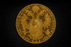 Franz Joseph I, Austro-Hungarian golden ducat from 1915-Avers Royalty Free Stock Photography