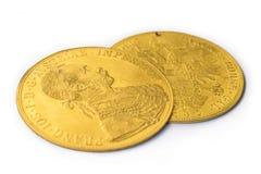 Franz Joseph I, Austro-ungrare guld- dukat från 1915 Fotografering för Bildbyråer