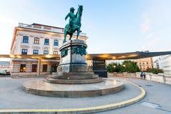 Franz Joseph monument nära Albertina Museum Vienna Arkivfoto