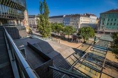 Franz-Joseph Station i Wien, Österrike Arkivfoton