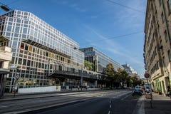 Franz-Joseph Station i Wien, Österrike Arkivbilder
