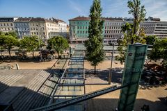 Franz-Joseph Station i Wien, Österrike Royaltyfri Bild