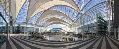 Franz Joseph Strauss Airport Munich, Tyskland Arkivfoto