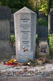 Franz Kafka的坟墓 免版税库存照片