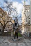 Franz Kafka雕象在布拉格 图库摄影